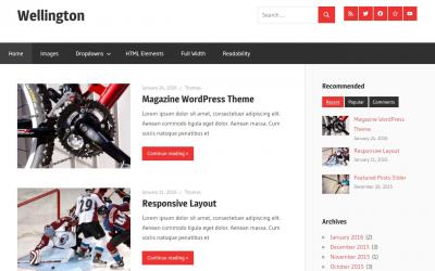 Free WordPress Theme: Wellington