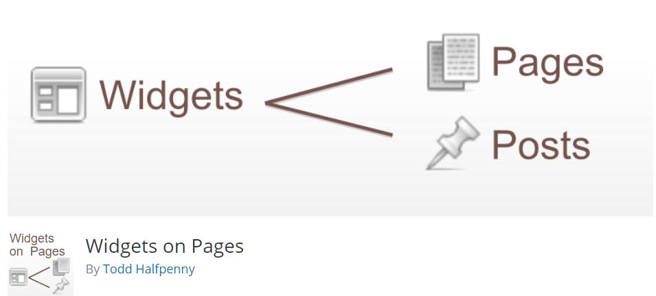 Free WordPress Plugin: Widgets on Pages