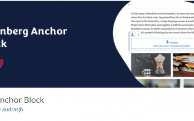 Free WordPress Plugin: Anchor Block