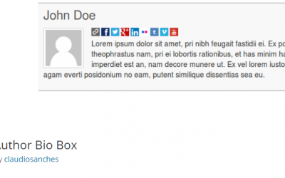 Free WordPress Plugin: Author Bio Box