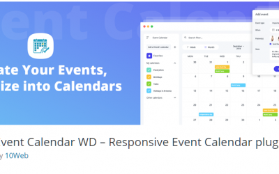 Free WordPress Plugin: Event Calendar WD – Responsive Event Calendar Plugin