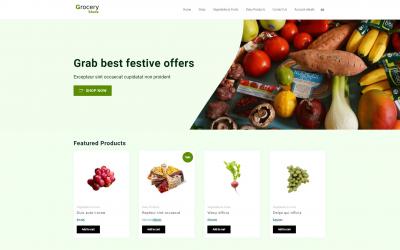 Free WordPress Theme: Groceries Store