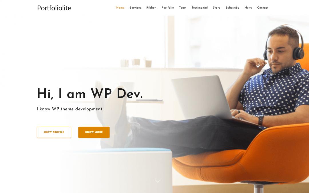 Free WordPress Theme: Portfoliolite