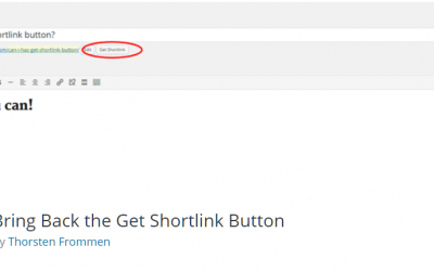 Free WordPress Plugin: Bring Back the Get Shortlink Button