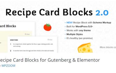 Free WordPress Plugin: Recipe Card Blocks for Gutenberg & Elementor