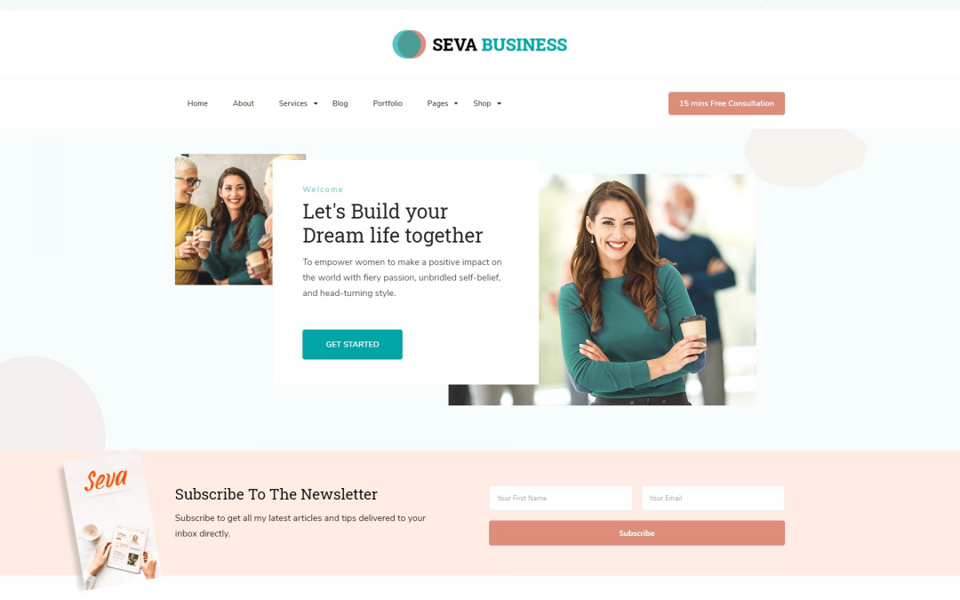 Free WordPress Theme: Seva Business