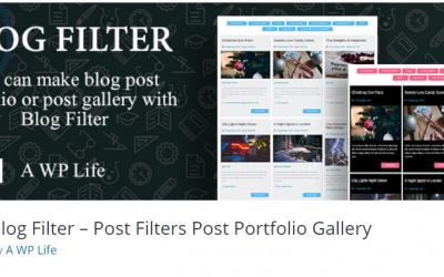 Free WordPress Plugin: Blog Filter – Post Filters Post Portfolio Gallery