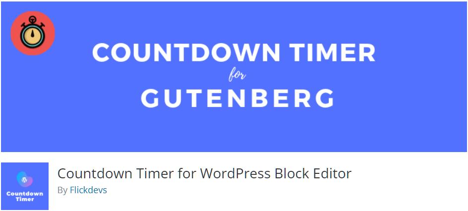 Free WordPress Plugin: Countdown Timer for WordPress Block Editor