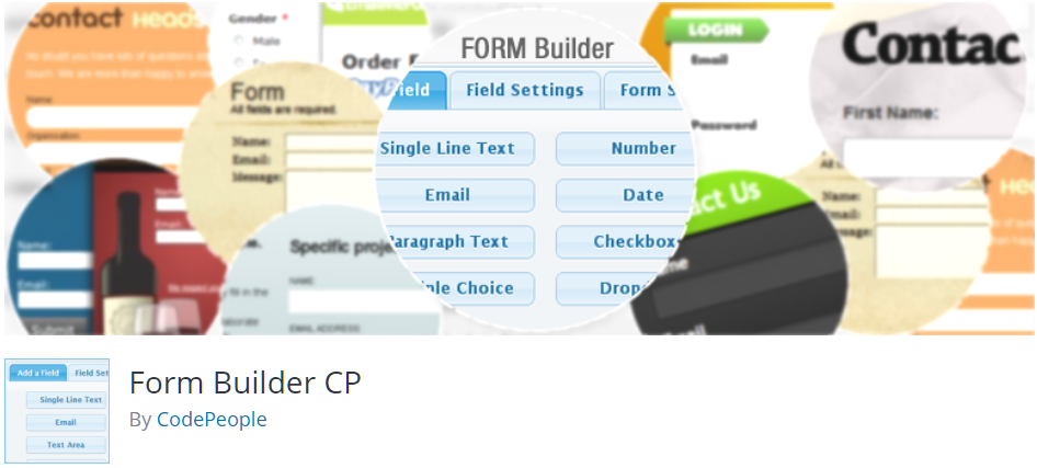 Free WordPress Plugin: Form Builder CP