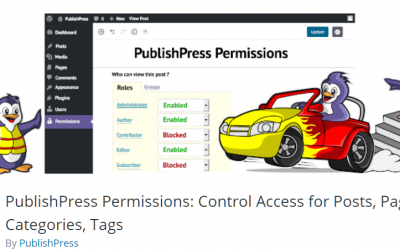 Free WordPress Plugin: PublishPress Permissions: Control Access for Posts, Pages, Categories, Tags