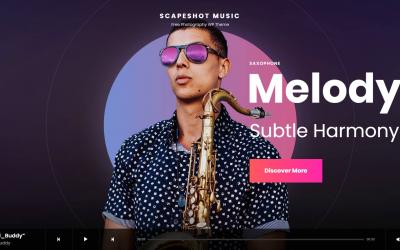 Free WordPress Theme: Scapeshot Music