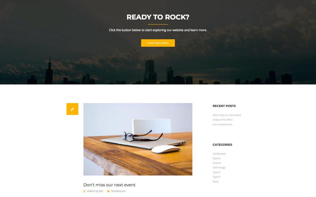 Free WordPress Theme: Rocked